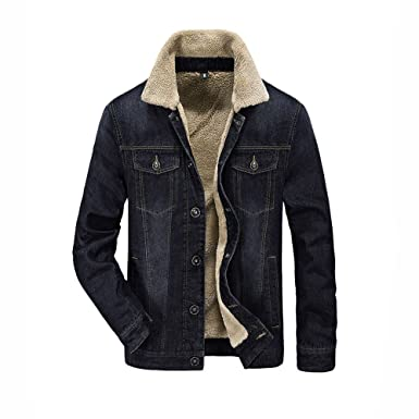 Annie Baby/ Mens Chaquetas Denim Jacket Men Jean Jacket 2(Contracted Style)