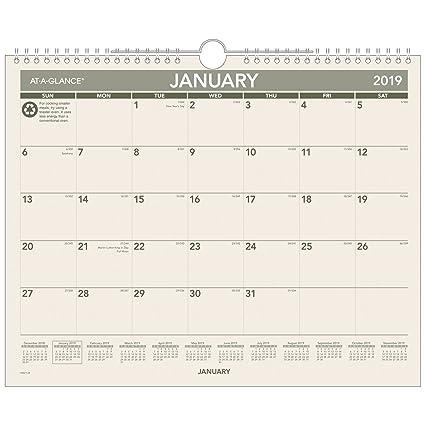 AT-A-GLANCE - Calendario mensual de pared, reciclado, enero ...