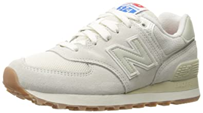 6cd58a28241746 New Balance Women's 574 Retro Sport Pack Lifestyle Fashion Sneaker, Sea Salt /Powder,