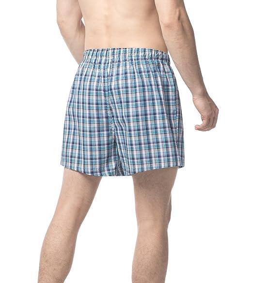 LAPASA Pack de 3 Calzoncillos Bóxer de Tela 100% Algodón Calzoncillos Pijama Varios Colores M40 8tLpT1s