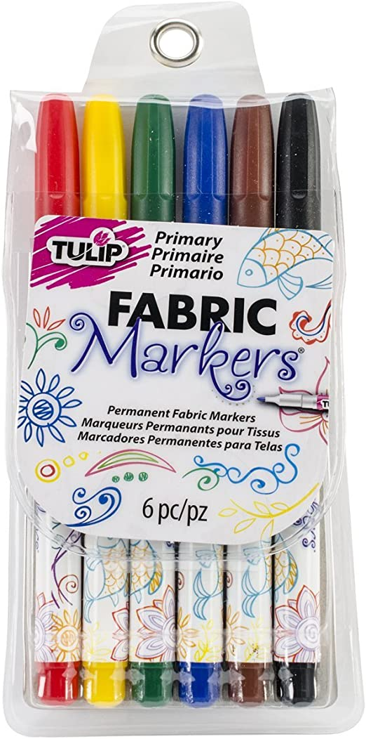 20 Pack Multicolor Tulip Permanent Nontoxic Fabric Markers