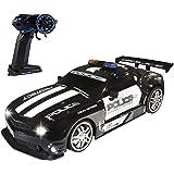 Haktoys RC Police Sports Car, Radio Remote Control Hot Pursuit Cop Chase, Super Fast 1:12 Scale Drift Patrol Vehicle | Parent