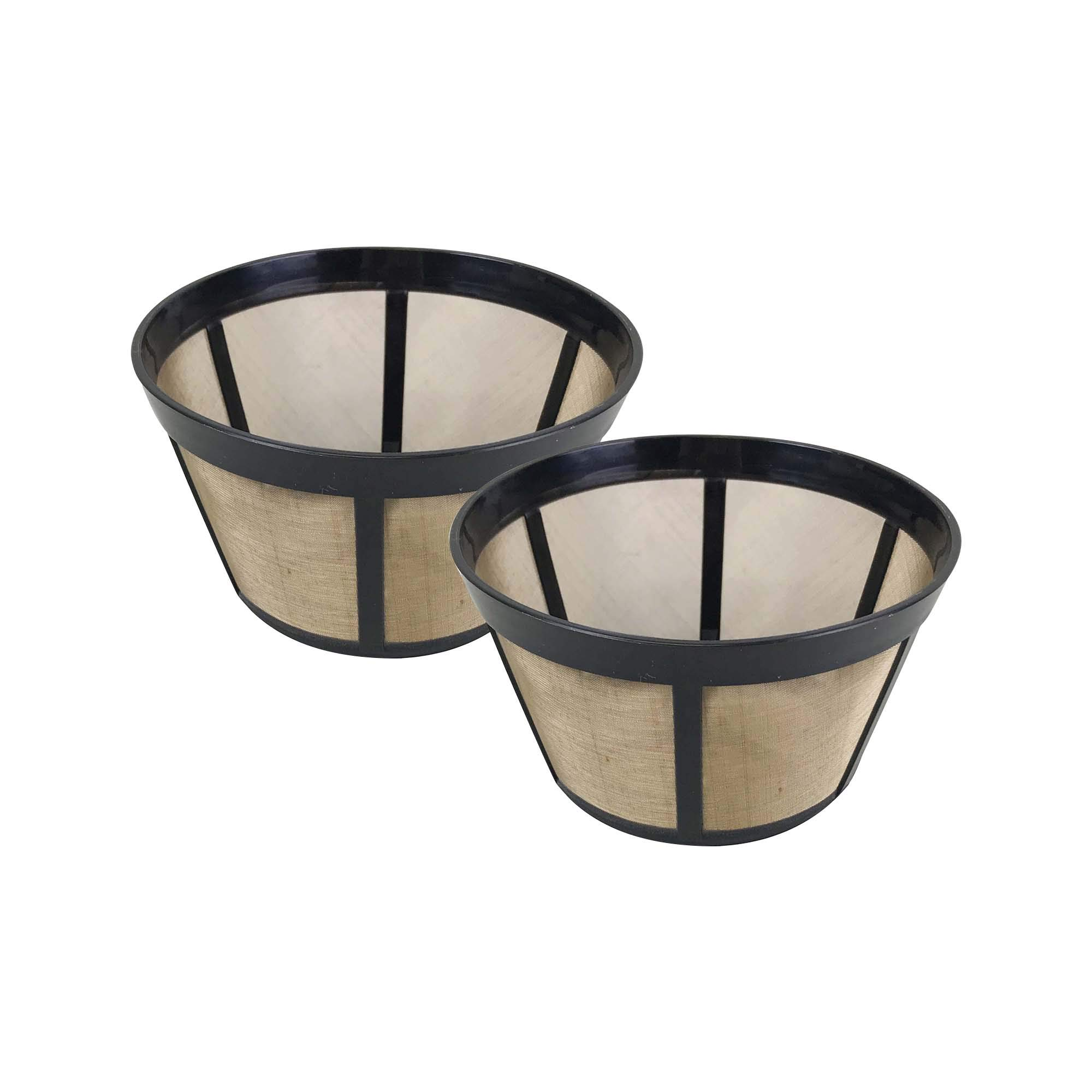 Think Crucial 2 Replacements for Bunn Basket Coffee Filter Fits BX, BTX, GRX, HG, HT NHB, NHS, ST, Washable & Reusable