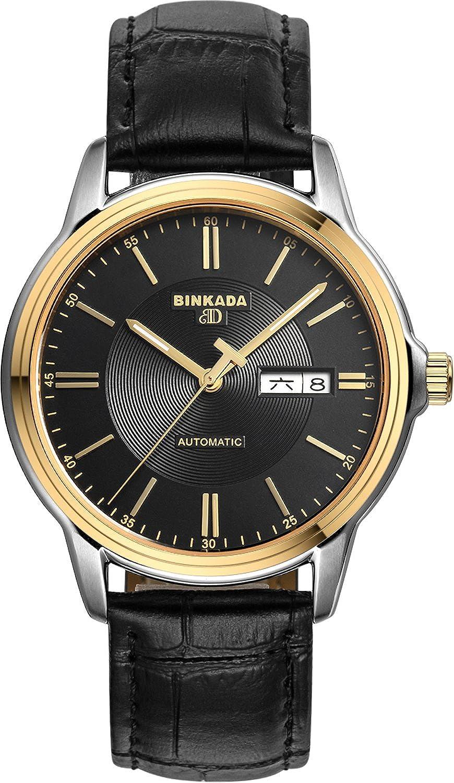 BINKADA 3ポインタ自動機械ブラックダイヤルメンズ腕時計# 707202 – 4 B014VP1BOI