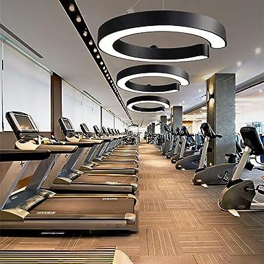 Lámpara de techo con forma de C para despacharse en el gimnasio, restaurante, restaurante, despacho, etc.: Amazon.es: Hogar