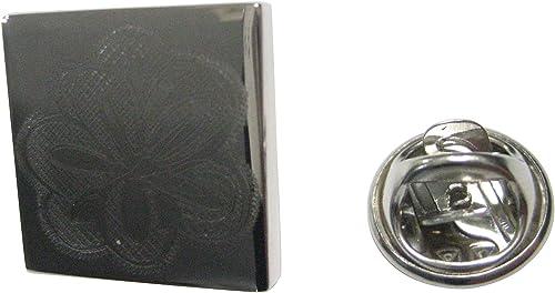 Kiola Designs Silver Toned Etched Drosera Capensis Sundew Carnivorous Plant Lapel Pin