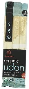 Hakubaku Organic Udon, Authentic Japanese Wheat Noodles, No Added Salt, 9.5oz (Pack of 8)