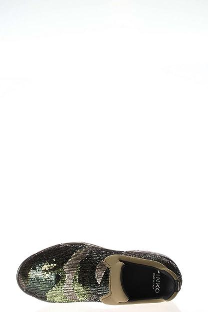 Sneakers Pinko Mujer Lentejuelas Verde 1H204ZY1RHLS1 Verde 36EU XYc24