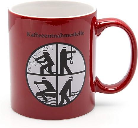 Dfv Feuerwehr Becher Rot Porzellanbecher Kaffeeentnahmestelle Feuerwehr Signet Amazon De Küche Haushalt