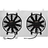 Mishimoto MMFS-MUS-79 Performance Aluminum Fan Shroud Compatible With Ford Mustang 1979-1993 Silver