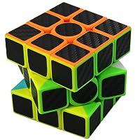 FC MXBB 3X3 Magic Cube Carbon Fiber Sticker 3X3X3 Speed Cube 56mm - Brain Teasers Twist Toys for Kids