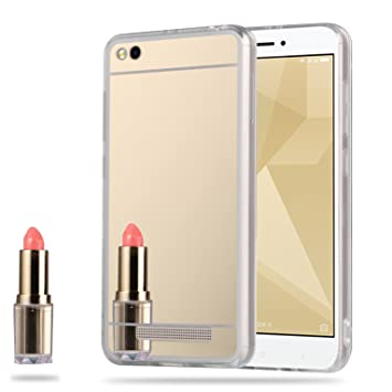 LXHGrowH Funda Espejo Silicona Gel TPU para Xiaomi Redmi 4A Color ...