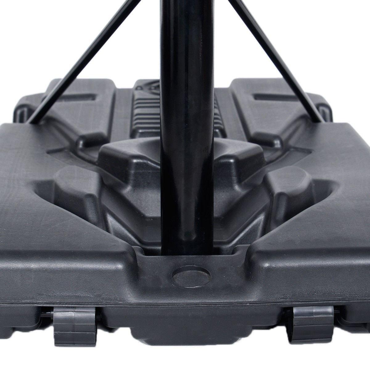 42''x28'' Backboard In/outdoor 10' Adjustable Height Basketball Hoop System
