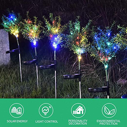 Seasaleshop Luces Solares Jardín LED, Árbol de Navidad Artificial Landscape Pathway Lights, Luces Solares Impermeables para Patio, Césped, Patio, Pasillo, 2 Pack: Amazon.es: Hogar