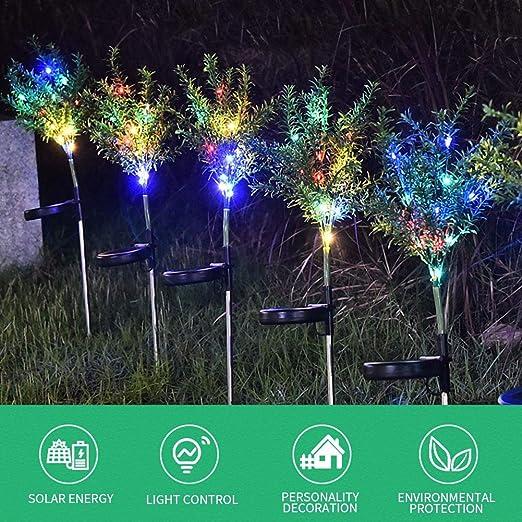 Seasaleshop Luces Solares Jardín LED, Árbol de Navidad Artificial ...