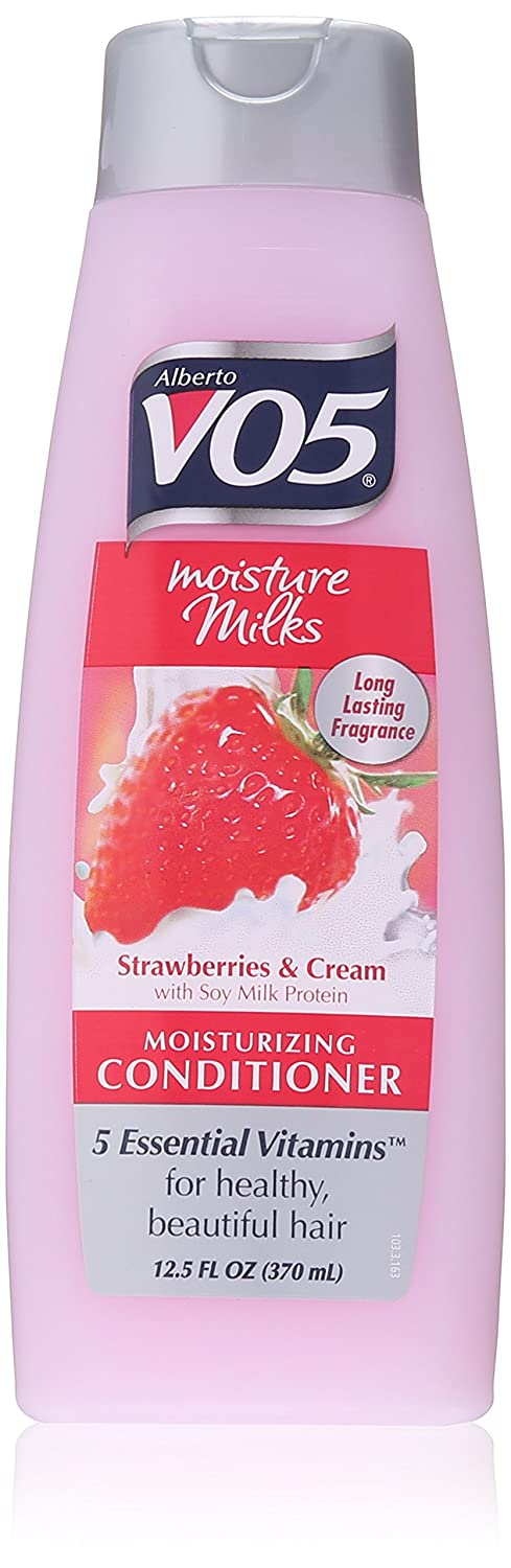 Alberto VO5 Moisture Milks Strawberries and Cream Moisturizing Conditioner for Unisex, 12.5 Ounce U-HC-8694