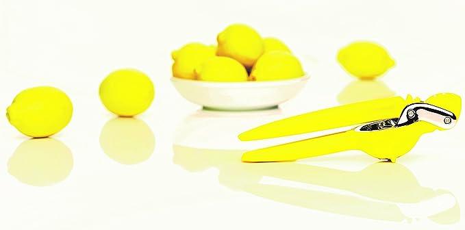 Chefn Exprimidor Cítricos FreshForce. Polietileno y acero inox. Amarillo. 25,5x7,2x7cm. 1ud.: Amazon.es: Hogar