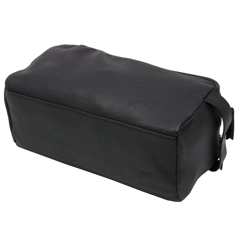 Amazon.com  Alpine Swiss Sedona Toiletry Bag Genuine Leather Shaving Kit  Dopp Kit Travel Case Black  Clothing f4979c2647