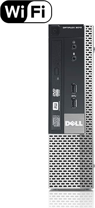 Dell Optiplex 9010 SFF Desktop PC - Intel Core i5-3470 3.2GHz 16GB RAM 240GB SSD DVD Windows 10 Pro, WIFI (Renewed)