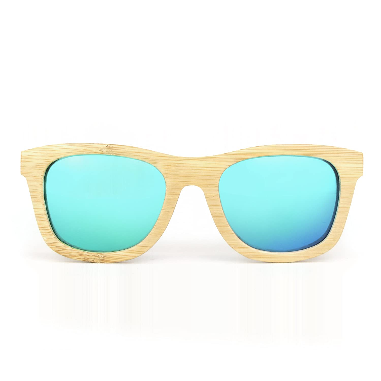 64514a11c31 Amazon.com  Wood Sunglasses for Men and Women - Polarized Bamboo Wayfarer  with Wooden Case  Clothing