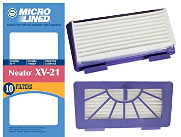 10 Neato XV-21 High Performance Pet and Allergy Replacement Filters for Part 945-