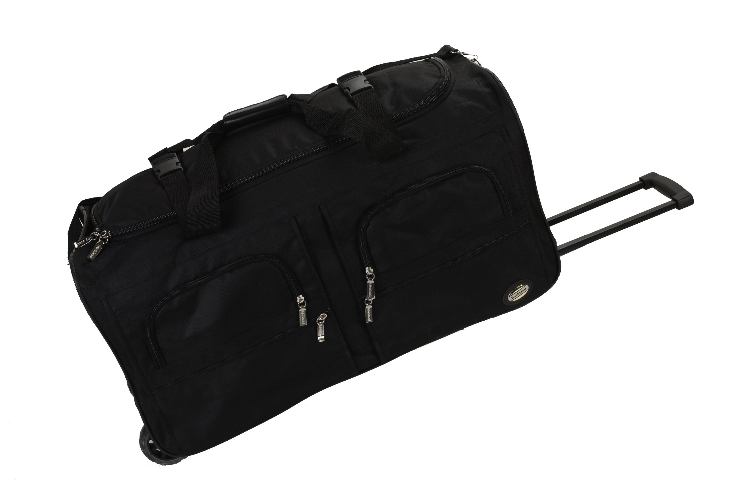 Rockland Luggage 36 Inch Rolling Duffle Bag, Black, Large by Rockland