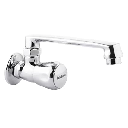 Hindware F200024CP Sink Cock with Swivel Casted Spout (Wall Mounted) (Classik) with Chrome Finish