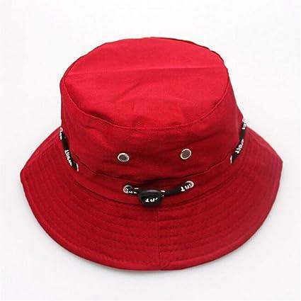 68964e488a0 Amazon.com   Miki Da 1PC Unisex Women Men Bucket Hat Boonie Hunting Fishing  Outdoor Cap Men s Summer Autumn Sun Hats NEW Hot 4Colors Red   Sports    Outdoors