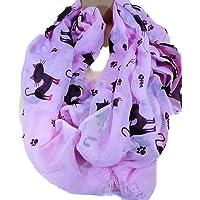 Trends & Trade Pañuelo para el cuello con diseño de gato, 180 x 85 cm, f56