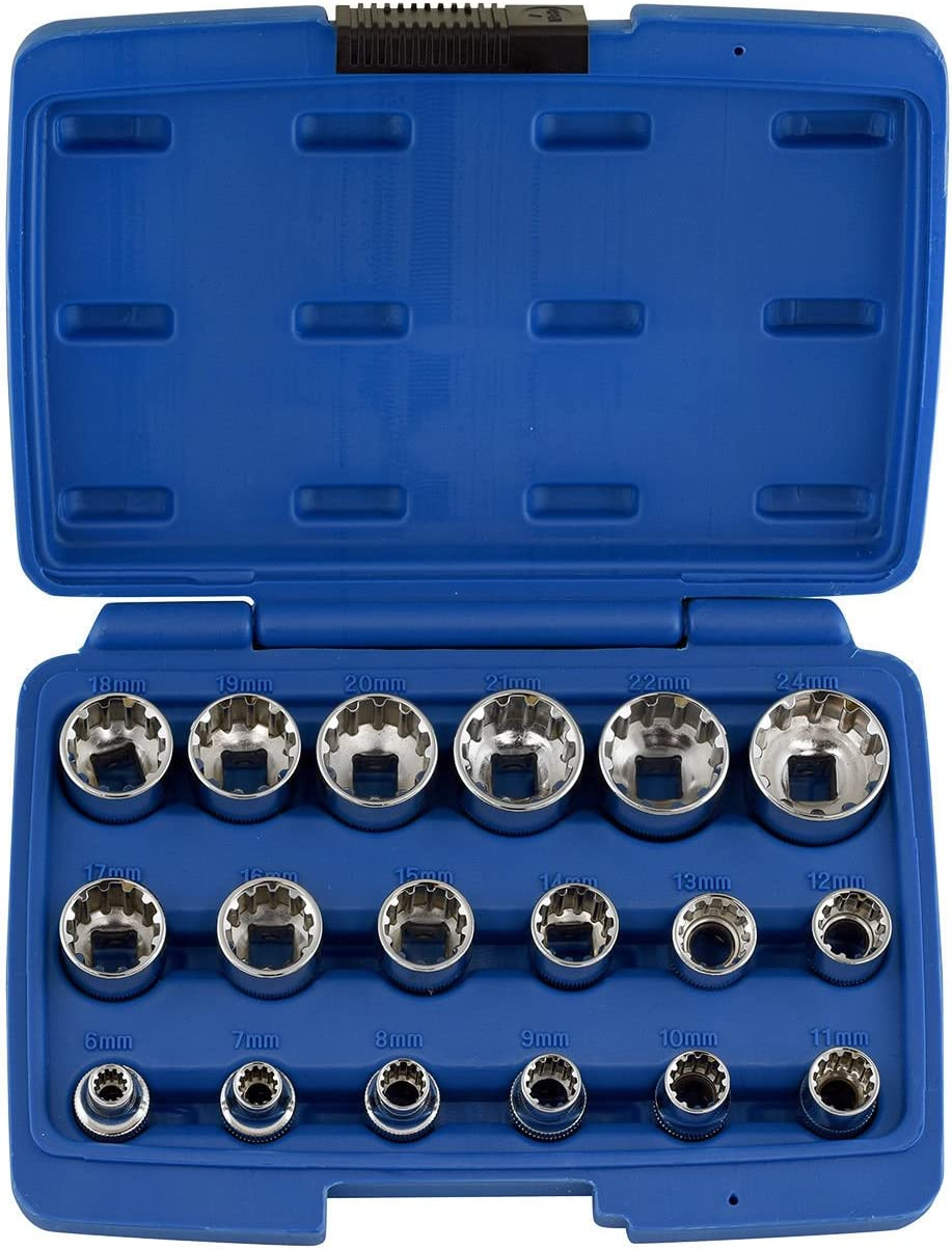 "NEW KOBALT 3//8/"" Drive Metric Socket Set 9 Piece 12 Point Sizes 10mm 18mm"