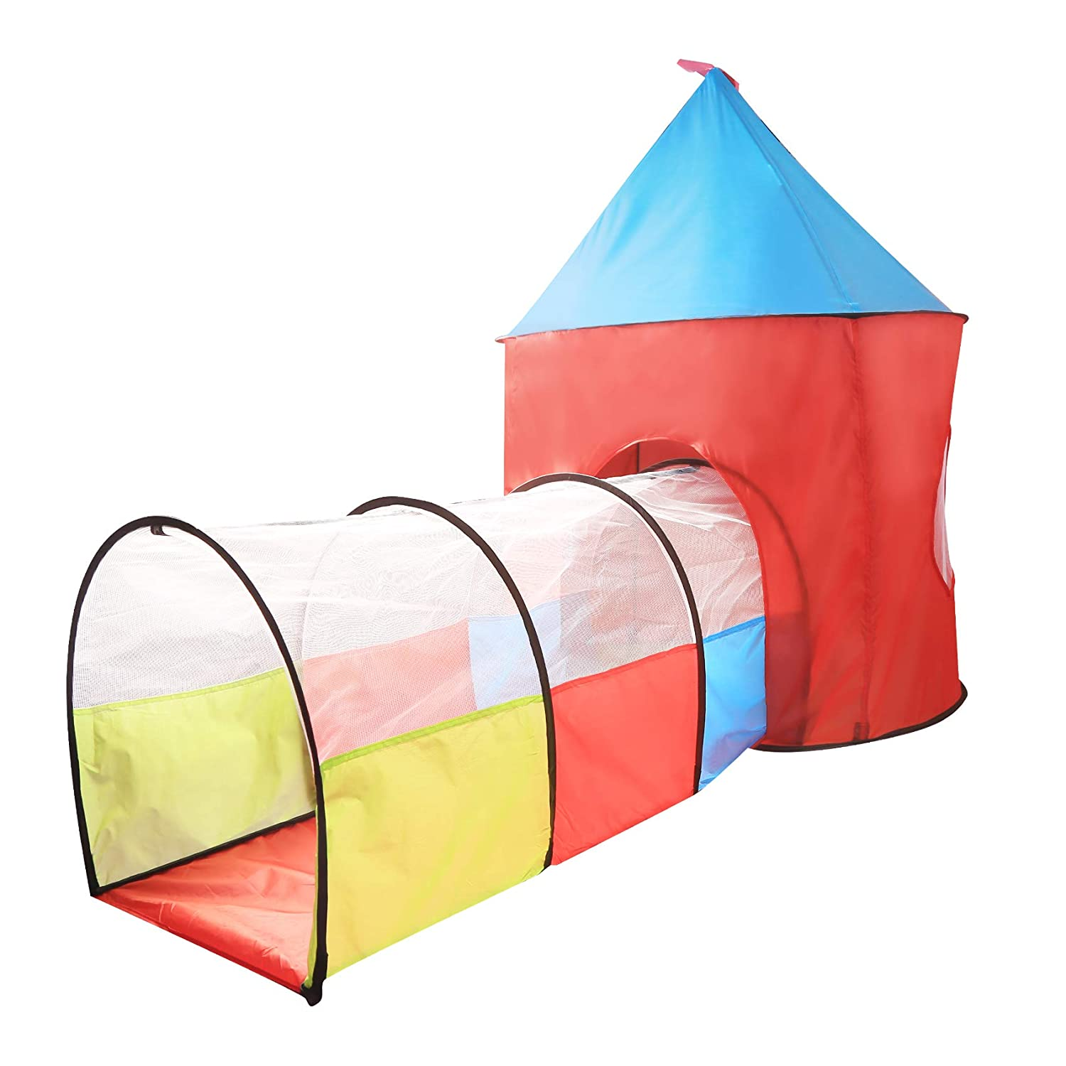 No.A999-227 Digabi 89 Large Play Tent with Tunnel Toy Playhouse Indoor /& Outdoor Garden Foldable Pop Up Pink Play Tent for Kids Party Favor