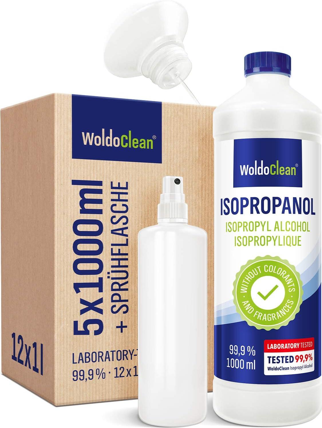 Isopropanol 5 Liter Fettlöser Reiniger Lösungsmittel 99 9 Mit Sprühflasche Drogerie Körperpflege
