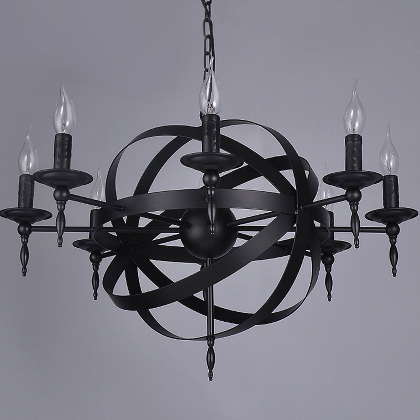 Garwarm Vintage Chandelier 8 lights Antique Pendant light Home