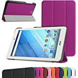"""Acer Iconia One 8 B1-850 Ultra Slim Coque,Mama Mouth Ultra Slim PU Cuir debout Fonction Housse Coque Étui Couverture pour 8"""" Acer Iconia One 8 B1-850 Android Tablette,Violet"""