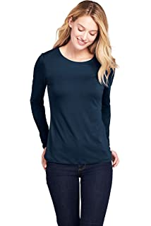 Lands' End Damen Supima Shirt, Langarm: : Bekleidung