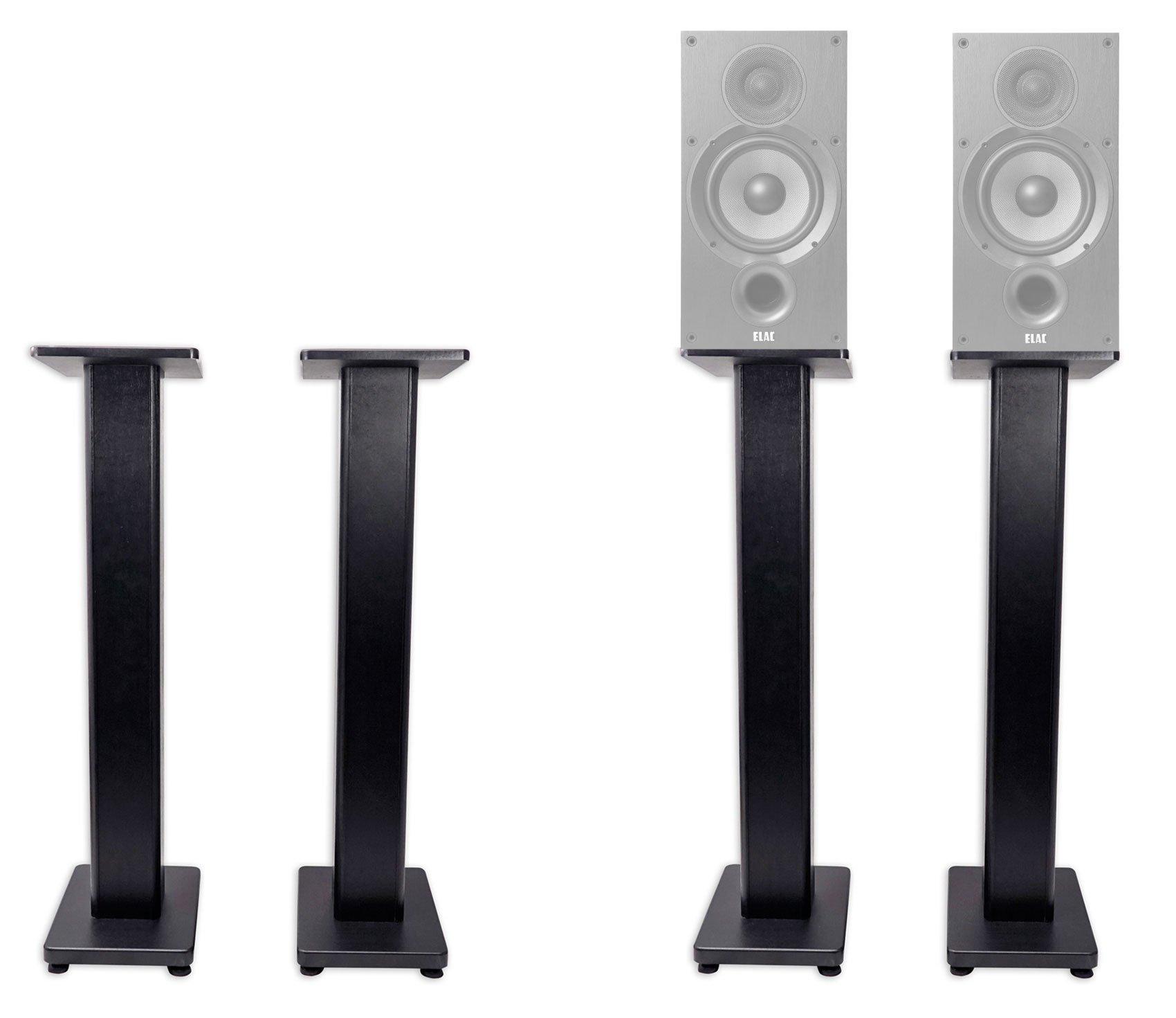 Pair 36'' Bookshelf Speaker Stands For ELAC Debut 2.0 B6.2 Bookshelf Speakers