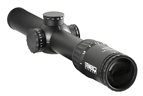 Steiner T5Xi 1-5x 24mm Riflescope, 3TR 7.62mm Reticle
