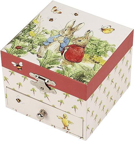 Trousselier - Caja para tesoros/joyas musicales, ideal como regalo para niños, música, diseño de fresa: Amazon.es: Bebé