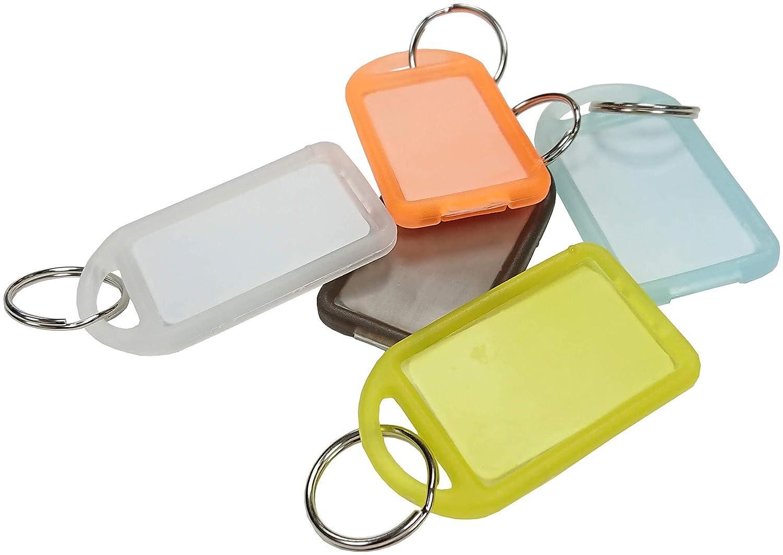 Uniclife /étiquettes en plastique robuste avec anneau fendu Porte-/étiquette 20 Packs//White blanc