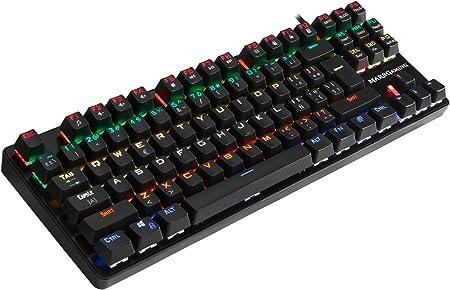 Mars Gaming MK4MINIBR, teclado PC, layout PORTUGUÉS, 6 efectos, switch marrón