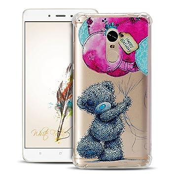 Anfire Funda Xiaomi Redmi Note 4 Carcasa Flexible de Silicona Cover Suave y Transparente Case [Esquinas Reforzadas] Protección Gota y Ultra Ligera Gel ...