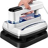 VEVOR Mini Press 7 x 8 Inch Mini Heat Press 800W Blue Portable Easy Press Mini Double-Tube Heating Mini Press Vibration…