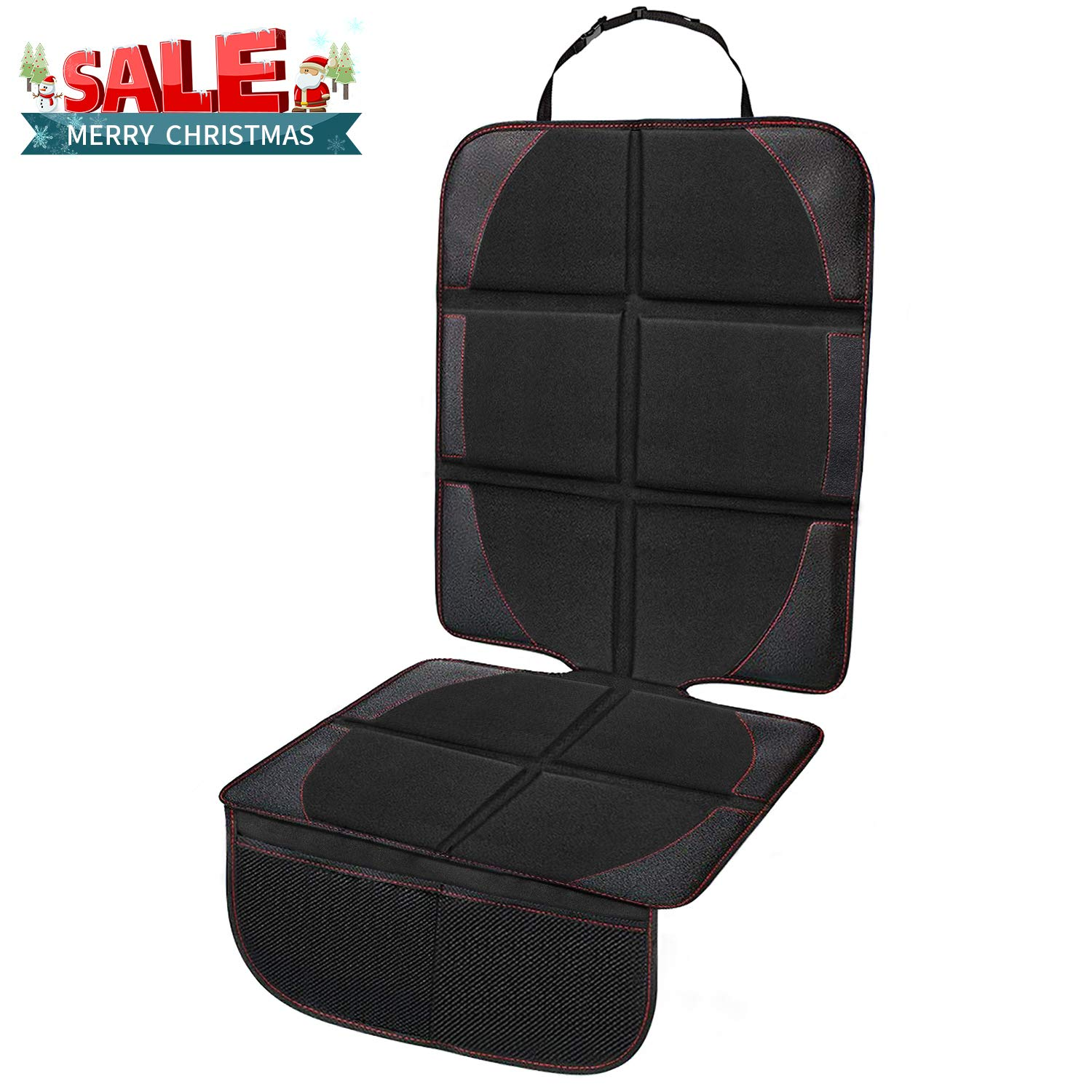 Ylife Car Seat Protector + Kick Mat Auto Seat Back Protector, Thickest Padding XL Size Car Seat Cover Pad, Waterproof Seat Guardian Kick Protector with Organizer Pockets