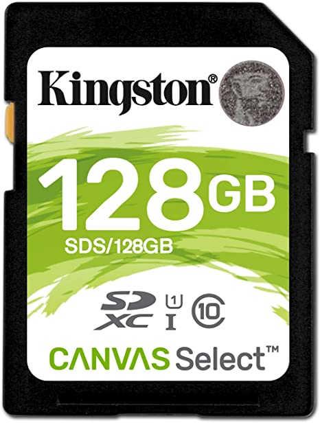 Kingston SDS/128GB - Tarjeta de Memoria SD (Micro SDS, 128 GB, UHS-I, Clase 10, hasta 80 MB/s)
