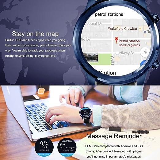 LEMFO LEM5 Pro Smart Watch Smartwatch Android 5.1 Relojes Phone ...