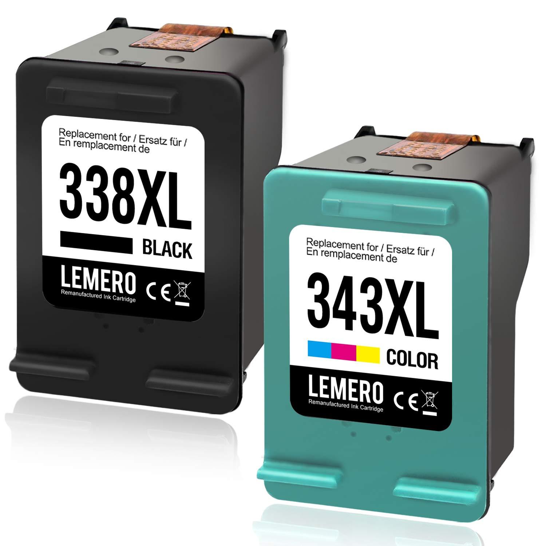 LEMERO 338XL 343XL - Cartuchos de Tinta reciclados para HP 338 XL ...