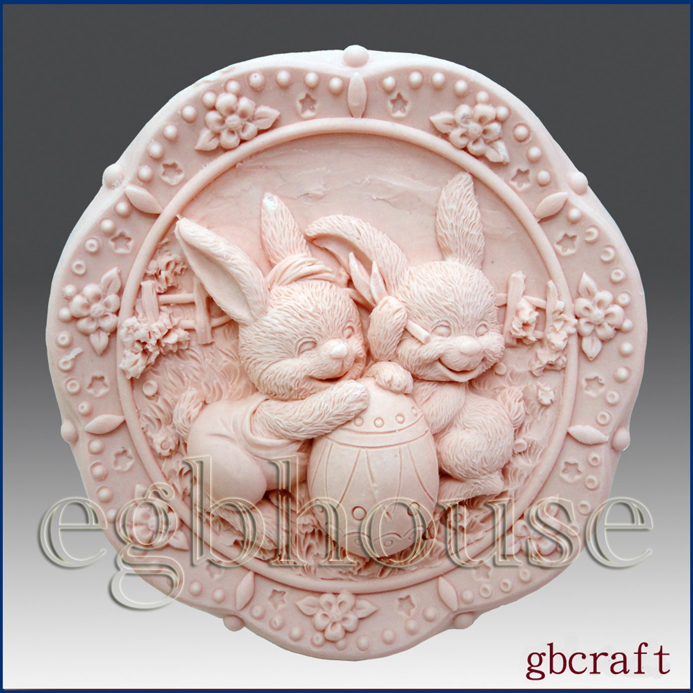 Sunnyside conejitos y huevos - 2d jabón/vela/polímero/arcilla/porcelana fría moldes de silicona (: Amazon.es: Hogar