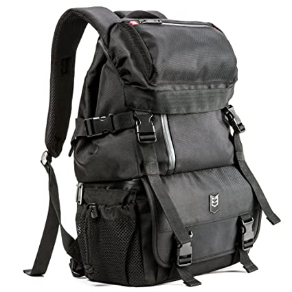 DSLR Camera Backpack Evecase Outdoor Water Resistant Multipurpose Daypack  with Tablet Compartment and Padded Dividers for