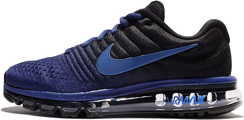 Nike Mens Air Max 2017 Running Shoes (14 D(M) US), Deep Royal BlueHyper CobaltBlack