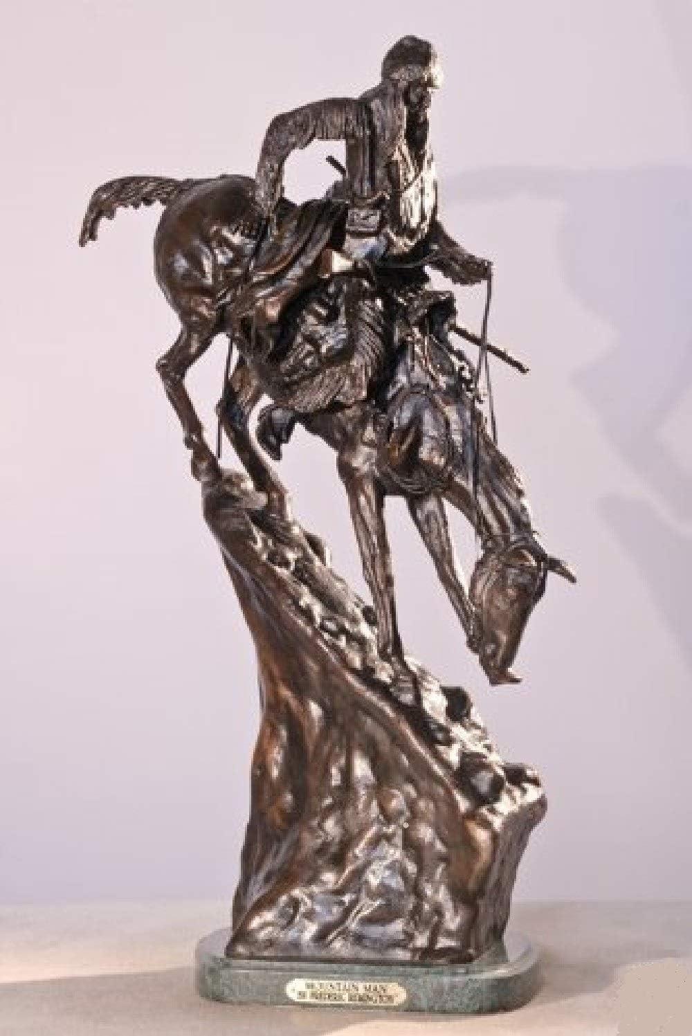 Artistic Solutions Frederic Remington Lost Wax Bronze Sculpture Mountain Man Statue – Medium Size